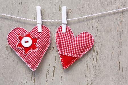 handmade hearts of scrim on line photo