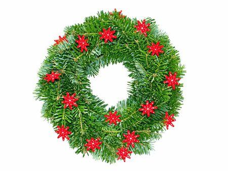 adventskranz: wreath of fir