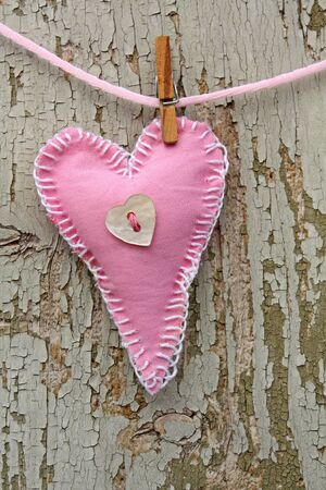 handmade heart of scrim on line