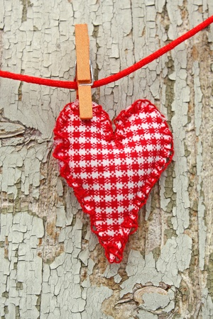 handmade heart of scrim on line Stock Photo - 11819046