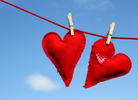 handmade heart of scrim on line photo