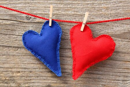 handmade heart of scrim on line Stock Photo - 11819052