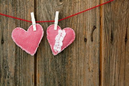 handmade heart of scrim on line photo