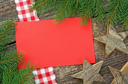Christmas ornament on wooden background Stock Photo