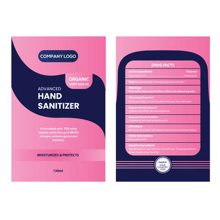 Refill Pack Alcohol Hand Gel and Hand Sanitizer Packaging Label Design
