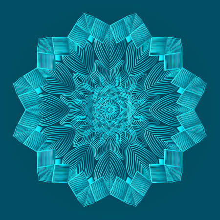 islamic luxurious background design of arabesque greenish blue color ornamental floral abstract mandala