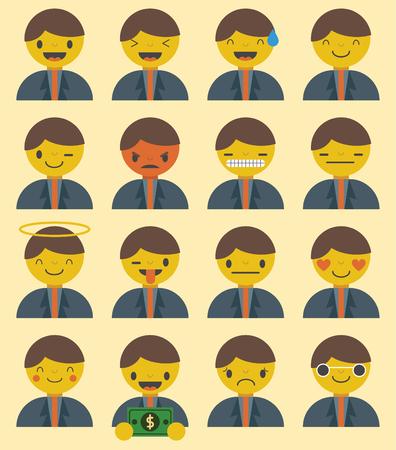 A list of twenty businessman emoji