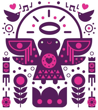 A purple angel endless pattern Illustration
