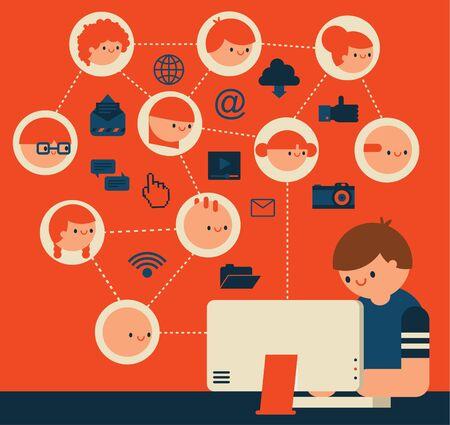 Social Network Manager Ilustração
