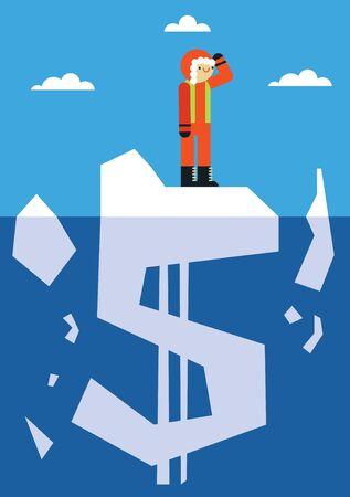 Looking for Profit in Antarctica Иллюстрация