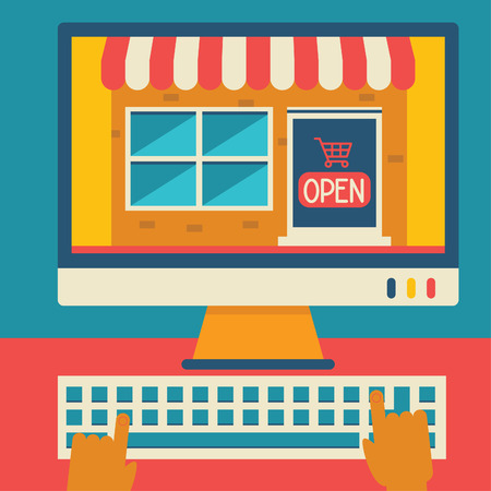shopper: A person goes to a virtual shopping store