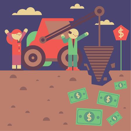 praise: Digger gets really close to some underground bills Illustration