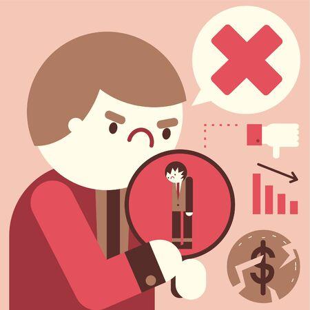 Negative human resource evaluation