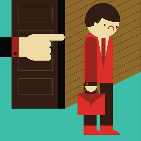 A sad businessman gets fired