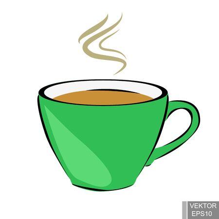 vivacity: tea. Cup. Hot drinks. Vivacity. For your design. Illustration