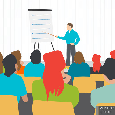 lecture hall: Lecture. Education in the audience. A meeting. Training. Discussion. Concept of success. For your design.