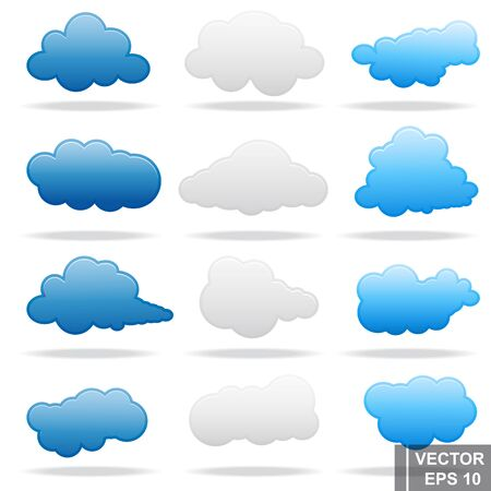 Cloud. Set. Sky. Weather. For your design.