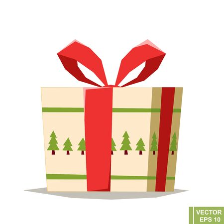 Present, cute cartoon vector illustration of a present, could be used for birthday gift or Christmas project.