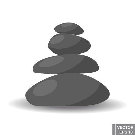 Cartoon relaxation gray stones. Spa. Recreation. health