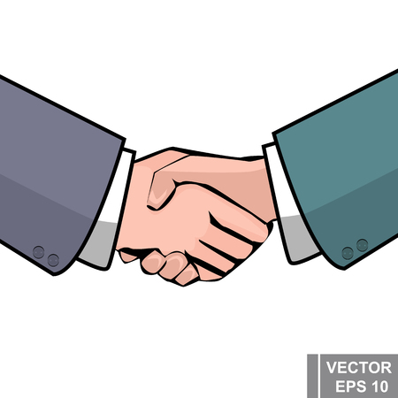 Handshake. Businessmen. Business relationship. Conclusion of the contract. For your design.
