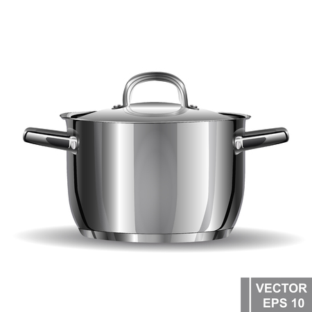 wholesome: Metal pan realistic. Preparation wholesome food. Cooking. Kitchen tools.