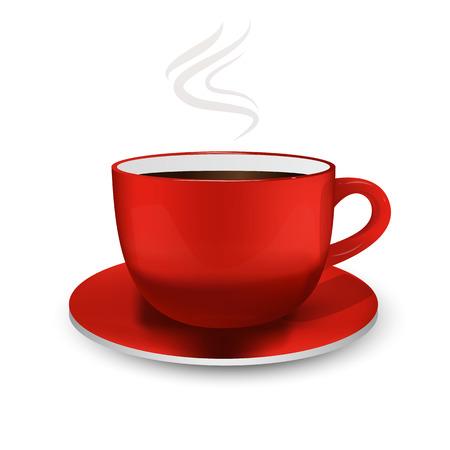 Realistic ceramic mug. Hot drinks. 3D. Coffee. Tea. For your design