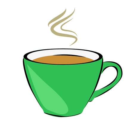 vivacity: tea. Cup. Hot drinks. Vivacity. For your design. Stock Photo