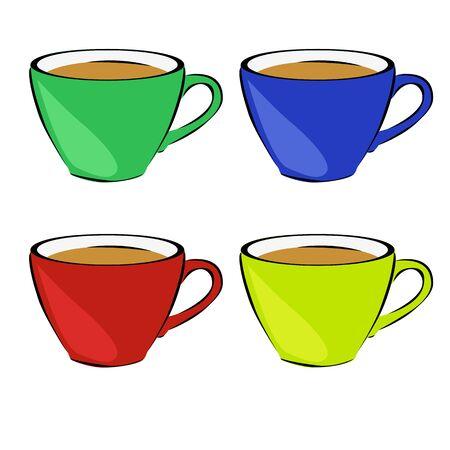 vivacity: Set of four mugs. Tea. Hot drinks. Vivacity. For your design.