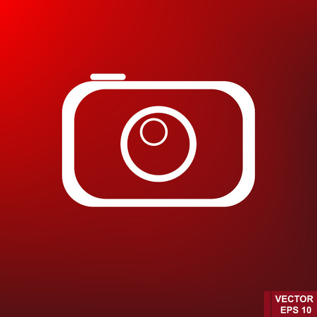 Simple flat icon. Camera. For your design. Illustration