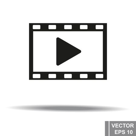 The icon. Isolated. Video. Play. For your design Ilustrace