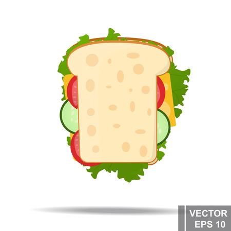 Sandwich tasty food vector illustration for your design.