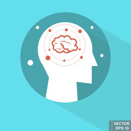 Illustrazione del lato destro del cervello. Archivio Fotografico - 86226616