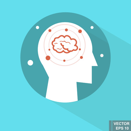 Illustration of the right side of the brain.