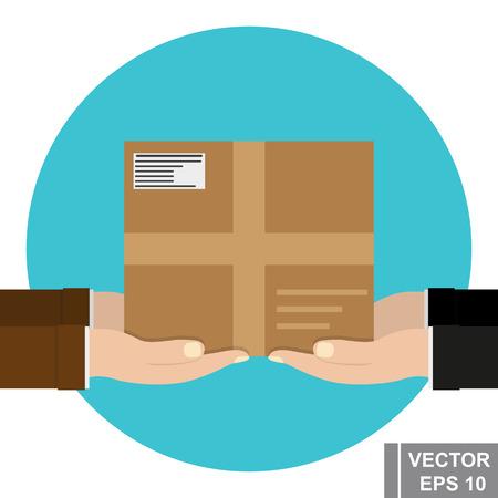 Online order. A parcel. Flat. For your design.