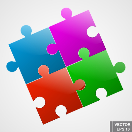 collect: Puzzles. The icon. Collect. Puzzle. For your design. Illustration