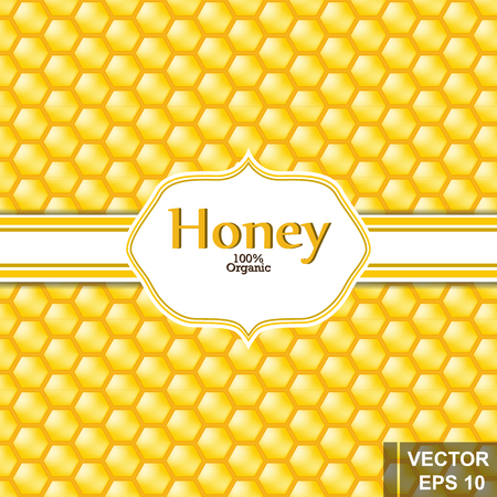The bee. Tasty and healthy honey. A cartoon. For your design. Ilustrace