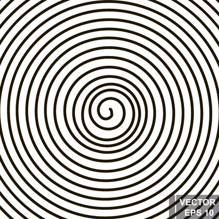 Espiral. Silhueta. O preto. Um círculo. A forma. Para o seu design. Foto de archivo - 86226840