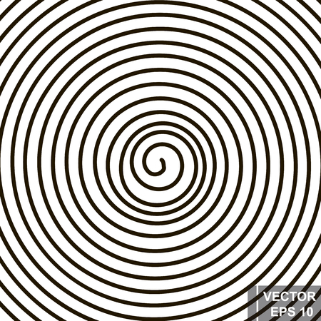 Spiral. Silhouette. The black. A circle. The form. For your design.