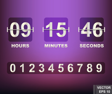 デジタル時計。正方形します。時間の測定。リアルに再現。あなたのデザイン。ベクトル図