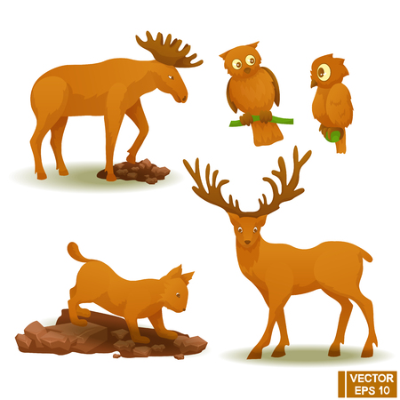 Set of isolated animals