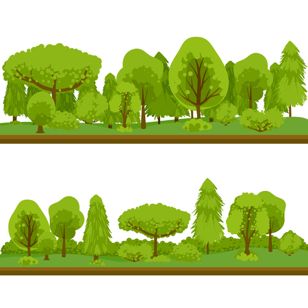 Eco lifestyle. Background of trees. Green clean forest Stock Photo