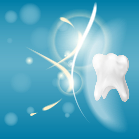 3D photorealistic healthy tooth