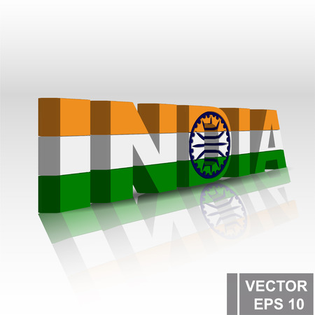 Flag of India Map Symbol of the state Ilustracja