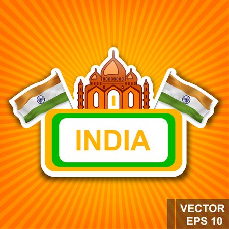 Flag of India, a Symbol of the state vector illustration  For your design in Rectangle shape