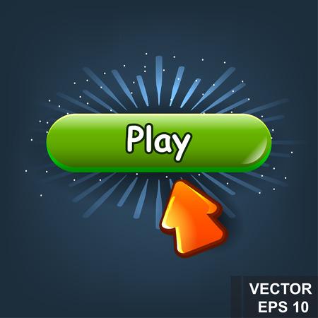 Button. Game. A cartoon. Congratulations. For your design. Vector conceptual illustration.