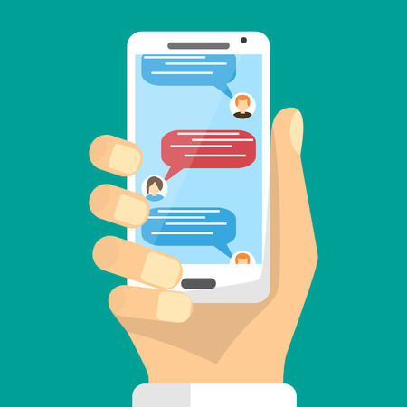 Online sms communication via mobile device. Negotiation.