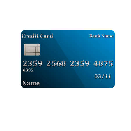 Credit card. Realistic. Convenient payment for purchases. For your design.