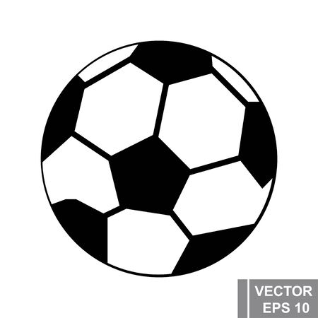 Soccer ball. The icon. Modern simple style. A game. For your design.