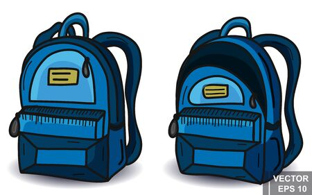 Back to school. Training. to the future. Backpack. Hand drawing. For your design. 向量圖像