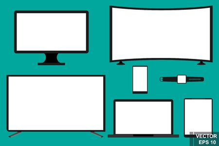 Electronics. digital set. TV, monitor. Smart tv. 4K, 3d. Modern technologies. Mocap screens. For your design.